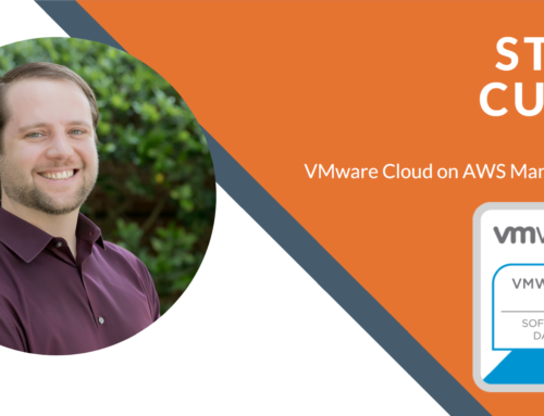 Steve Curry Attains VMware Cloud on AWS Management Certification